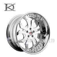 Silver White One Piece Forged Wheels Forged Alloy Wheels For Racing Car