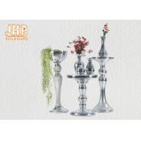Buy cheap Silver Mirror Mosaic Fiberglass Pedestal Plant Stand Round Telephone Table from wholesalers