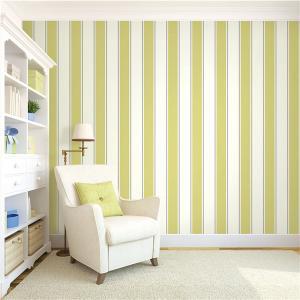 Best Top quality waterproof mould proof stripe design PVC vinyl wallpaper wholesale