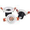 Best Adjustable Frame Led Recessed Ceiling Spotlights White Housing 15°/24°/38° Beam Angle wholesale