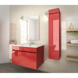 Best 80 Inch Red Single Bathroom Vanity , Good Stability Bathroom Vanity With Sink wholesale