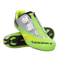 Best Ultralight Road Bicycle Shoes / Carbon Sole Men Breathable Self - Locking Cycling Sneakers wholesale