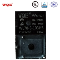China Wl78 T78 Subminiature Auto Relay 5pin 4 Pin 20A 14VDC PCB Relays for Car Electrical System for sale