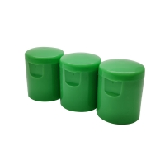 China 22/415 PP Plastic Flip Top Cap 22 mM green Conditioner Bottle Cap for sale