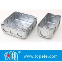 "Quality 4"" 1-1/2'' Deep Steel Square / Rectangular Conduit Outlet Junction Box , Electrical Boxes And Covers wholesale"