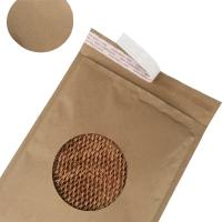 China Easy Recycle Rigid Mailer Envelopes Brown Kraft Cover Honeycomb Paper Eco Friendly for sale