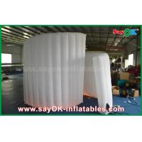 Quality 210D Oxford Fabric Inflatable White Spiral Wall For Photo Booth Tent 1 Year Warranty wholesale
