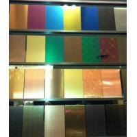 SUS316L Etching Colored Stainless Steel Sheets ,PVD Decoration Sheets 1250mm for sale