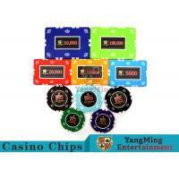 Best Circular / Square Shape Professional Poker Chip Set With 25 Pcs In A Shrink Roll wholesale