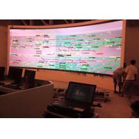 Quality Meeting Room 4mm color Curved LED Screens with High Refresh Rate wholesale