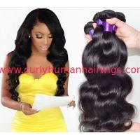 Buy cheap Fashion 6A 100% Peruvian Virgin Hair Straight Peruvian Hair Bundles Black 18 Inch from wholesalers