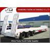 Quality 50 tonne Gooseneck low bed semi truck trailer for heavy equipment transport wholesale