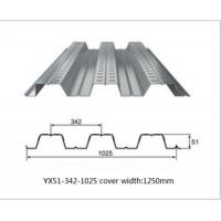 Buy cheap Galvanized Metal Floor Decking Sheets 38 - 113 Mm Wave Height 60 - 275g/M2 Zinc Weight from wholesalers