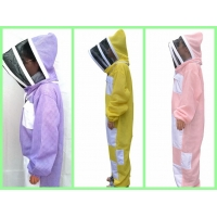 Cheap New Type Three layer Ventilated Bee Suit Yellow , Pink, Purple Color for sale