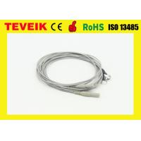 Best Din1.5 Socket EEG Cable With Pure Silver Electrodes , TPU material wholesale