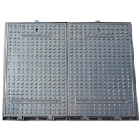 China Big square manhole cover,1200x1200 EN124B125, two covers  and  a frame assembled for sale