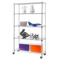Best H175 Chrome Plating  Display Shelf Floor Standing Display Unit Easy To Install Mobile Rack with 4pcs Casters wholesale