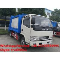 Best 2018S best seller good price dongfeng 5m3 4tons compression garbage truck for sale, garbage compactor truck for sale wholesale