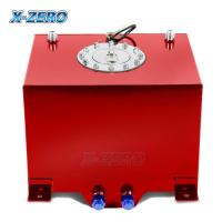 Quality Red 5 Gallon Aluminum Fuel Cell Tank Polished Surface With Street Race Drift Type wholesale