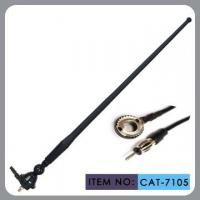 Quality Black Am / Fm Rubber Car Antenna 50 Inch Cable Length With M5 Screw Cap Installation wholesale