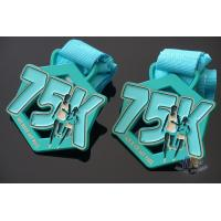 Best My Race 75K Marathon Custom Metal Sports Medals, Spray Pontan Colors And With Printing Ribbon wholesale