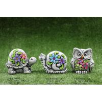 Best Creative Cute Ceramic Garden Decorations , Cement Garden Turtles And Owl wholesale
