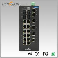 Best 18 Electric port + 4 Gigabit FX fiber optic 28 Port Switch , Industrial Ethernet Switch wholesale