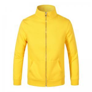 Best Custom Own Logo Printed High Quality Polyester Hoodies Pullover Unisex Raglan Sleeves Yellow Hoodie wholesale