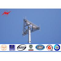 Buy cheap hot dipped galvanized 33kv 30m steel monopole tower in accordance with ASTM A123 from wholesalers