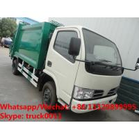 Best HOT SALE! exported model- Dongfeng RHD 4*2 5m3 small garbage compactor truck, refuse garbage truck wholesale