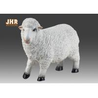 Best Life Size White Color Polyresin Animal Figurines Dolly Sheep Sculpture Garden Decor wholesale