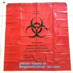 China Yellow with black biohazard logo plastic drawstring trash bag, High quality Useful Trash Bag with Drawstring, BAGEASE on sale