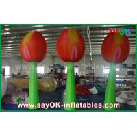 Buy cheap Giant Red Inflatable Double Flower For Stage Decoration With LED Light from wholesalers