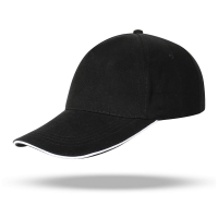 Best Custom Logo 6 Panel Fitted Embroidered Women Men Outdoor Cotton Hot Selling black color Baseball Cap wholesale
