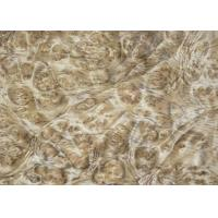 Quality 0.5 mm Mappa Burl Wood Veneer , Nardwood Thin Wood Veneer Sheets wholesale