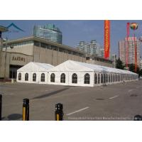 Buy cheap 500 People White PVC Roof Exhibition Tents With Clear Windows from wholesalers