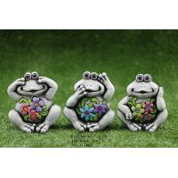 Best Cement Ceramic Frog Garden Decor Animal Figurine Ornaments , Unique Design wholesale