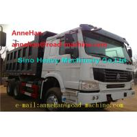 Best EuroII 30T 6x4 Cat Dump Truck With Middle Lifting And Q235 Steel Material wholesale