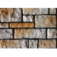 Quality Colorful Artificial Wall Stone For Interior / Exterior Wall Decoration Irregular Size wholesale