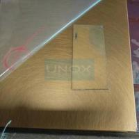 SUS304 Copper Hairline Stainless Steel Sheet ,PVD Color Decoration Sheets 1250mm for sale
