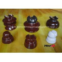 Quality 11kV And Below Porcelain Pin Type Insulators With Porcelain Thread wholesale