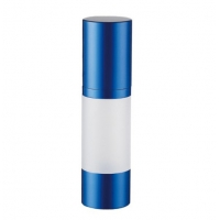 China Multicolored H93.0mm 15ml Airless Pump Bottles for sale