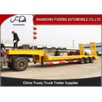 Best Heavy duty 3 axles spring ramp low loader truck trailer for sale wholesale