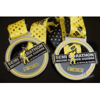 Best Semi Marathon 10KM Custom Sports Medals Soft Enamel Medallion With Ribbon wholesale
