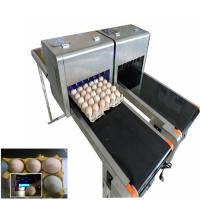 Best Barcode Egg Printer / Continuous Tray Egg Food Inkjet Printer Chinese Made wholesale