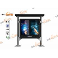 Quality IP65 Protection Interactive  Floor Stand  High Resolution LCD Touch Screen Kiosk For Bus Station Use wholesale