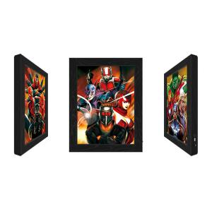 Best Outdoor LED 3D Lenticular Pictures With Marvel Movie Character wholesale