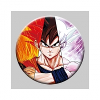 Best Round 5x5cm 3D Flip Lenticular Anime Pins With Goku wholesale