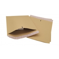 China Brown kraft fluted padded envelopes, 240x320mm, replacement for traditional bubble lined mailing bags for sale