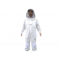 Cheap Three Layer vantilated beekeeping suit with white color for sale